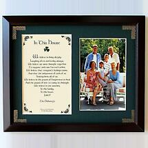 Personalized In This House Photo Verse Framed Print