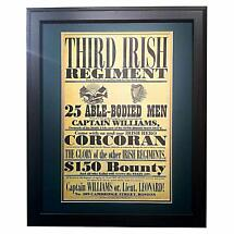 Third Irish Regiment - Matted and Framed Print