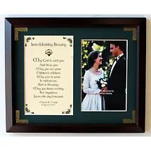 Personalized Irish Wedding Blessing Photo Verse Framed Print