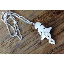 Irish Necklace - Sterling Silver Irish Dancer Pendant