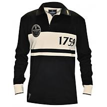 Guinness Shirt - Black and Cream Classic Guinness Rugby Shirt