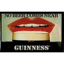 "Guinness ""No Beer Comes Near"" Metal Sign"