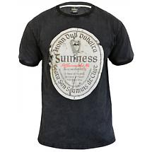 Guinness Distressed Gaelic Label T-Shirt