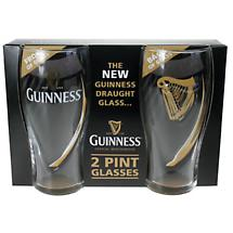 Guinness Embossed Gravity Glasses - Set of 2