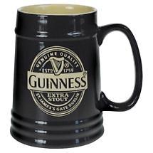 Guinness Black Ceramic Tankard