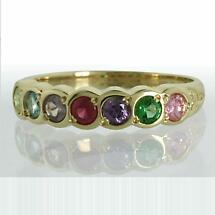 Family Birthstone Trinity Knot Ring - 7 Stones