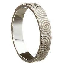 Irish Wedding Ring - Celtic Spirals Newgrange Mens Wedding Band