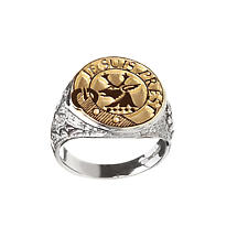 Celtic Ring - Coat of Arms Sterling Sterling Silver and 10k Gold Ladies Solid Scottish Clan Ring