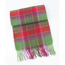 100% Lambswool Extra Long Scarf - Colorful Tartan