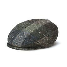 Vintage Irish Donegal Tweed Cap - Green Heather