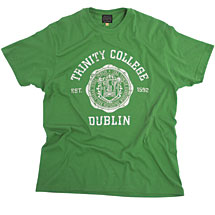 Irish T-Shirt - Trinity Wax Seal T-Shirt - Green
