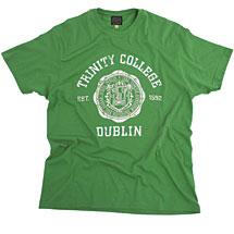 Irish T-Shirt - Trinity Wax Seal T-Shirt - Green