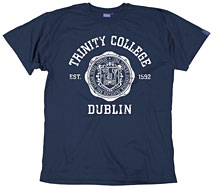Irish T-Shirt - Trinity Wax Seal T-Shirt - Navy