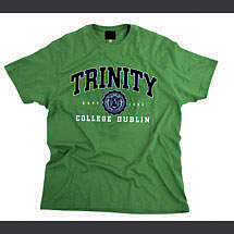 Irish T-Shirt - Trinity Collegiate Seal T-Shirt - Green