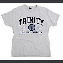 Irish T-Shirt - Trinity Collegiate Seal T-Shirt - Grey