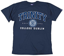Irish T-Shirt - Trinity Collegiate Seal T-Shirt - Navy