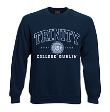 Irish Sweatshirt - Trinity College Crew Neck Sweatshirt - Navy