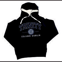 Irish Sweatshirt - Trinity Collegiate Seal Hooded Sweatshirt - Navy