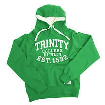 Irish Sweatshirt - Trinity 1592 Bold Hooded Sweatshirt - Green