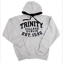 Irish Sweatshirt - Trinity 1592 Bold Hooded Sweatshirt - Grey