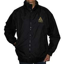 Personalized Black Fleece Lined Nylon Jacket