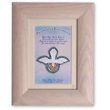 Personalized Confirmation Handpainted Glass Framed Print