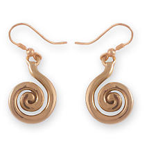 Grange Irish Jewelry - Gold Tone Celtic Spiral Drop Earrings
