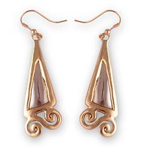 Grange Irish Jewelry - Two Tone Fancy Celtic Drop Earrings