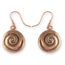 Grange Irish Jewelry - Two Tone Solid Celtic Spiral Drop Earrings