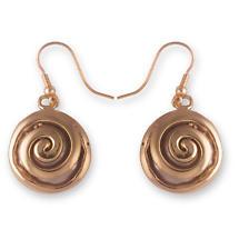 Grange Irish Jewelry - Two Tone Solid Celtic Spiral Drop Earrings
