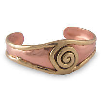 Grange Irish Jewelry - Two Tone Single Spiral Bangle