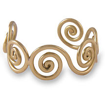 Grange Irish Jewelry - Gold Tone Celtic Spiral Bangle