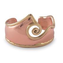 Grange Irish Jewelry - Two Tone Double Spiral Wide Bangle