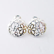 Jean Butler Jewelry - Sterling Silver Wild Flower Irish Earrings