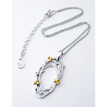 Jean Butler Jewelry Irish Necklace - Sterling Silver Shamrock Buds Irish Pendant with Chain