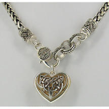 Celtic Necklace - Two Tone Celtic Heart Necklace