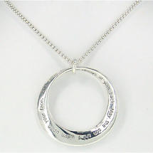 Irish Necklace - Irish Blessing Mobius Necklace