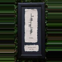 Personalized Hand Painted Ogham Baby Framed Print with Name, Date and Weight