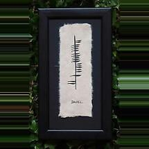Personalized Hand Painted Ogham Name Framed Print