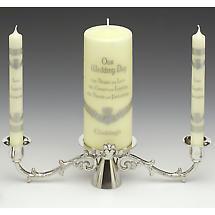 Irish Wedding Gift - Pewter Claddagh Wedding Candle