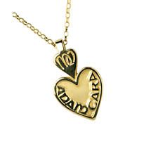 "Irish Necklace - Mo Anam Cara ""My Soul Mate"" Pendant with Chain - Small"
