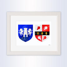 Irish Coat of Arms - Framed Double Crest