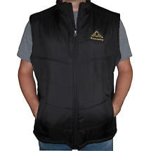 Personalized Black Quilted Vest