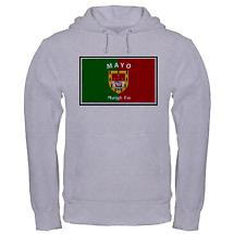 Irish Sweatshirt - Irish County Hooded Sweatshirt Full Chest - Grey