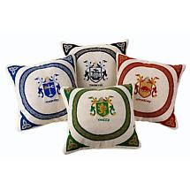 Personalized Coat of Arms Tapestry Pillow Cover