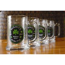 Personalized Premium Stout 16 oz. Tankards - Set of 4