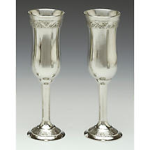 Irish Wedding Gift - Celtic Champagne Flutes Pewter (Pair)