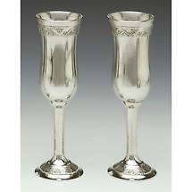 Irish Wedding Gift - Celtic Champagne Flutes Pewter (Pair)