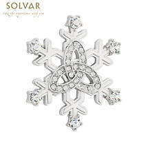 Irish Brooch - Snowflake Trinity Knot Brooch