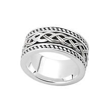 Celtic Ring - Men's Sterling Silver Ancient Celtic Knot Band